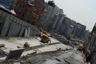 Walk down a few streets and the construction opens up. Just a block or so until Taksim.