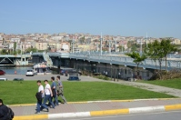The old Galata Bridge, which was ruined in a fire in 1992. The new one opened in 2003.