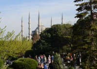 Minarets of the Sultanahmet Mosque (Blue Mosque).