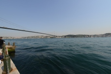 The Bospohorus Bridge connects the European side of Istanbul to the Asian side.
