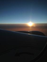 Sunrise over Europe.