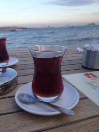 "Seaside çay. (Pronounced ""chai"". Turkish for tea.)"