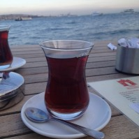 "Seaside çay. (Pronounced ""chai"". Turkish for tea.)"
