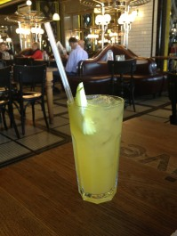 I ordered a lemonade, and it came promptly and so fresh I puckered with every sip!