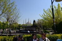Approaching the Blue Mosque in Sultanahmet.