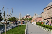 On the way to Hagia Sophia!