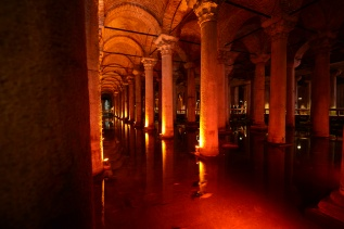 Upon entering you can hear classical music echoing through the columns and listen to the soft drips of water from the ceiling into the pools below.