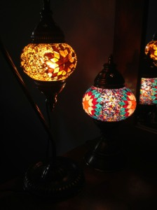 My lanterns from the Grand Bazaar. ~$40 for the loveliest lighting I've ever had!