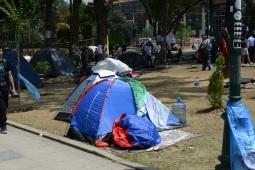 Lots of tents...