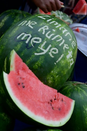 I couldn't translate this watermelon, but it tasted good!