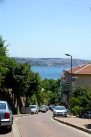 The glittering, blue Bosphorus.