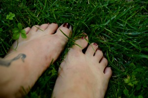 Grass on my feetses!