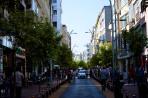A shopping street.