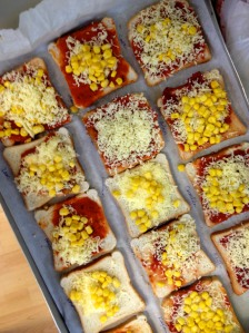 We made mini pizzas one day. Corn is a common topping here, and I must say, it works surprisingly well.