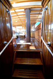 Stairs to cabins.