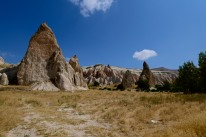 The famous rock formations of Cappadocia were developed during and after periods of intense volcanic activity.