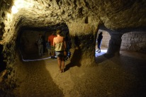 It's estimated that the tunnels were carved as early as 1200BC in the soft volcanic rock.