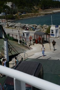 We had to catch a ferry across the strait, then a half-hour shuttle ride to the ruins.