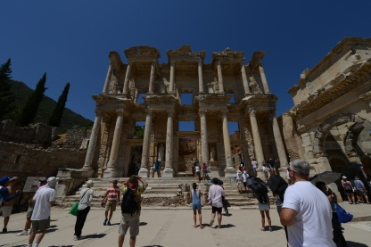 Library of Celsus. Built to store scrolls and as a tomb for the revered Senator Celsus.