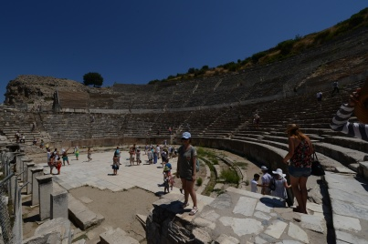 The theater seating nearly 25,000 people, believed to be the largest of the ancient world. Musicians like Elton John, Sting, and U2 have performed here, and our guide indicated that you could still rent the space for private parties. You'd have to be pretty popular to fill it, though.