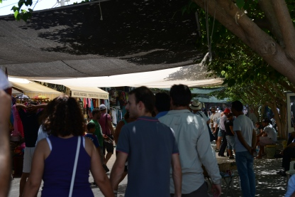 The exit was filled with vendors, similar to the entrance.