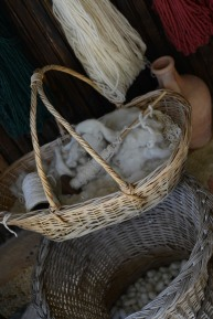 We went to a rug manufacturer where they weave carpets by hand and make and dye their own silk, wool, and cotton.
