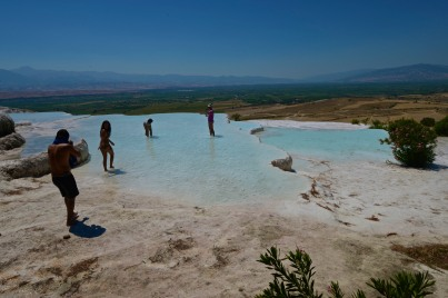 There are specified pools in which visitors can wade and swim. These are not those, but it all looks so much nicer without people around to ruin it!