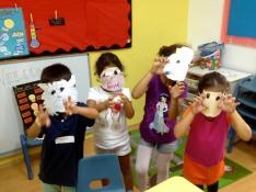 We made monster masks!