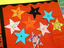The kids decorated these during the first week.