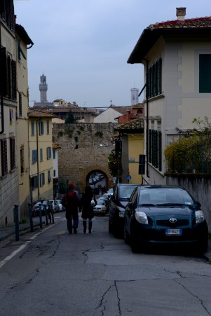 Our first outing was a walk to Michelangelo Hill, with its famed vistas of Florence.