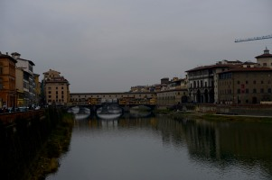 The Arno and the famous Ponte Vecchio.