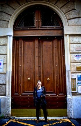 The door to our hostel.