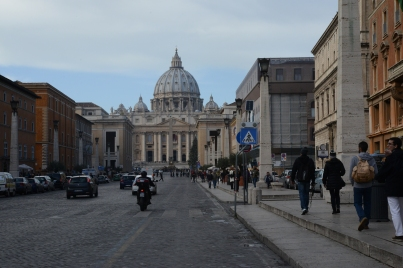 The Vatican, with St. Peter's Basilica.