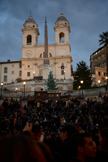 The Spanish Steps. Super crowded!