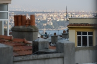 We have a tiny Bosphorus view, which even includes the Maiden's Tower!